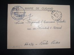 LETTRE MAIRIE OBL.6-12 1974 85 CUGAND VENDEE - Poststempel (Briefe)