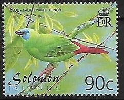 Solomon Islands - MNH 2001 :    Blue-faced Parrotfinch  -  Erythrura Trichroa - Songbirds & Tree Dwellers