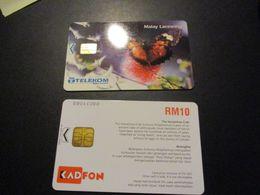 Lot De 2 Télécarte Phonecard Malaysia Malaysie - Malaysia