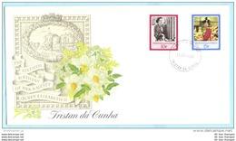 TRISTAN DA CUNHA - FDC - 401-402 Queen 60. Geburtstag (2 Scan)(131115) - Tristan Da Cunha