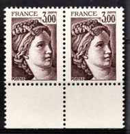 FRANCE  1977 A 1981 - PAIRE  Y.T. N° 1979 - NEUF** - Ungebraucht
