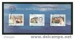 POLAND 2001 MICHEL BL 148 MS USED - 1944-.... Republic