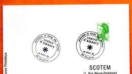 59 HERGNIES   CENTRE D'AMAURY 1982 Lettre Entière N° ST 340 - Poststempel (Briefe)