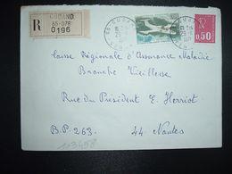 LR TP AVION 3,00 + M. DE BEQUET 0,50 OBL.29-11 1971 85 CUGAND VENDEE - Poststempel (Briefe)