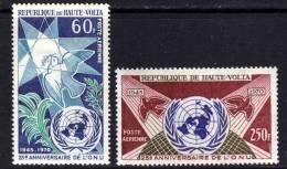 Haute Volta P.A. N° 84 / 85  XX  25ème Anniversaire De LO.N.U., Les 2 Valeurs Sans Charnière,  TB - Obervolta (1958-1984)