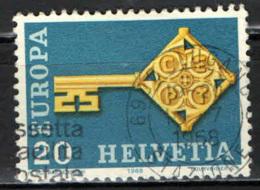 SVIZZERA - 1968 - EUROPA UNITA - CEPT - USATO - Switzerland