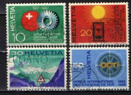 SVIZZERA - 1967 - SERIE DI PROPAGANDA: SETTIMANA SVIZZERA, PRO ANZIANI, TUNNEL, TRASPORTI FERROVIARI - USATI - Switzerland