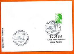 59  MONS EN BAROEUL  CLUB DES COLLECTIONNEURS 1982 Lettre Entière N° ST 341 - Poststempel (Briefe)