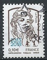 FRANCIA 2018 - Marianne Ciappa-Kawena Surchargé 2013 2018 - YV 5234 - Cachet Rond - Gebraucht