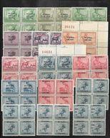COB N° 62/76 Timbres Du Congo Surcharge A B Et C En Blocs De Quatre Côte 88.00€ XX MNH - 1924-44: Ungebraucht