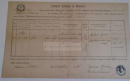 D172601 Old Document -  Slovakia  Lutiše  - Diocesis Nitriensis - EVA MRAVECZ - Joannes KACZIMA Parochus  1885 - Ohne Zuordnung