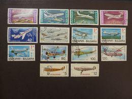 BULGARIE, Lot De 14 Timbres Oblitérés (avions) - Airplanes