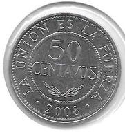 *bolivia 50 Centavos 2008 Km 204 Unc - Bolivie