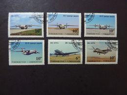 UZBEKISTAN, Année 1995, Lot De 6 Timbres Oblitérés (avions) - Airplanes