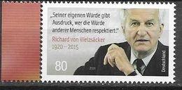 GERMANY, 2020, MNH, POLITICIANS, LEADERS, RICHARD VON WEIZSÄCKER, 1v - Otros