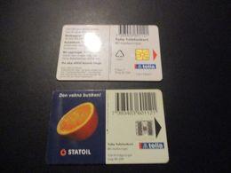 Lot De 2 Télécarte Phonecard Suède Sweden - Suède