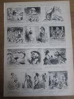 Gravure  1873   DESSIN HUMORISTIQUES Par Cham    Caricatures   Bd - Estampes & Gravures