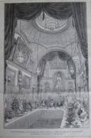 Gravure  1873   Le Voyage Du SHAH De ¨PERSE  Iran     Fete Donnée Par   La Ville De Londres    GUIDHALL - Estampes & Gravures