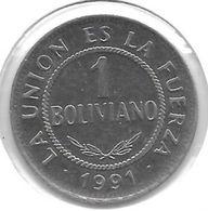 *bolivia 1 Boliviano 1991 Km 205 Unc - Bolivie