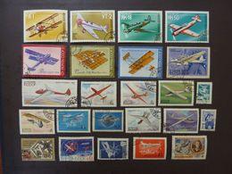 RUSSIE (URSS), Lot De 24 Timbres Oblitérés (avions) - Airplanes