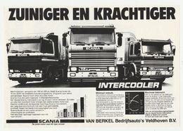 Brochure-leaflet: SCANIA Van Berkel Bedrijfsauto's Veldhoven (NL) - Ford Cargo Van Berkel Veghel (NL) - Camions