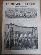 Gravure  1873 IRAN   Paris Arrivée   De S M  NASSER-ED-DIN   Au RANELAGH  GARE DE PASSY  Shah D Iran - Estampes & Gravures