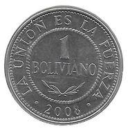 *bolivia 1 Boliviano 2008 Km 205 Unc - Bolivie
