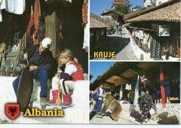 Kruje Animée Belle Multi-vues De La Ville Ours Commerces - Albanie