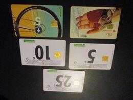 Lot De 5 Télécarte - Phonecard - Pays Bas - Nederland - Pays-Bas