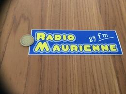 AUTOCOLLANT, Sticker * «RADIO MAURIENNE 89 FM» - Pegatinas