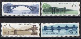 Chine N° 1392 à 1395 Neufs - Très Légères Adhérences Sur Les Gommes - 1949 - ... Repubblica Popolare