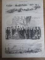 Gravure  1873 IRAN   Paris Arrivée   De S M  NASSER-ED-DIN    CORTEGE Pour Le Shah D Iran   Avenue Uhrich - Estampes & Gravures