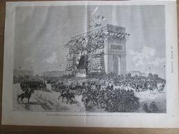 Gravure  1873 IRAN   Arrivé Shar D IRAN  PERSE Paris Arrivée   De S M  NASSER-ED-DIN    PLACE DE L ETOILE  PARIS - Estampes & Gravures