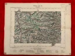CARTE GÉOGRAPHIQUE LARGENTIERE 1891 - FEUILLE XX-30 - Topographical Maps