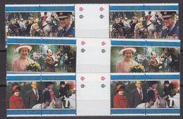 Falkland Islands 1997 Golden Wedding 3x2v Gutter ** Mnh (48504) - Falkland Islands