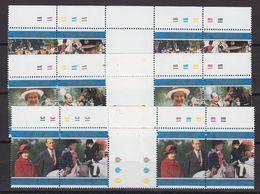 Falkland Islands 1997 Golden Wedding 3x2v Gutter ** Mnh (48505) - Falkland Islands