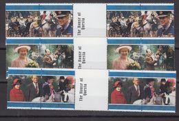 """Falkland Islands 1997 Golden Wedding 3x2v Gutter   """"The House Of Questa"""" ** Mnh (48506) - Falkland Islands"""