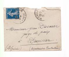 Différents Timbres   Type  Semeuse - Iris  - Blanc  - Empire - Sage  Sur Fragments Ou Devant D'enveloppe - Marcofilia (sobres)