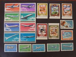 COREE Du NORD, Lot De 20 Timbres Oblitérés (avions) - Airplanes
