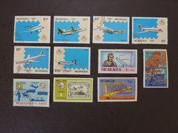 NICARAGUA, Lot De 11 Timbres Oblitérés (avions) - Airplanes