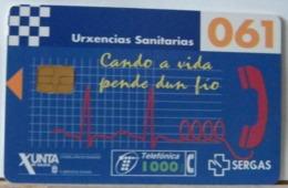 SPAGNA - 1000  PESETAS - 061 XUNTA- URXENCIAS SANITARIAS - URGENZA SANITARIA - Espagne