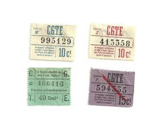 4 Tickets Anciens : C.G.T.E. (Compagnie Genevoise Des Tramways électriques). Voir Description - Tram