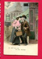 CPA (Ref : AA 834) (FANTAISIE FEMMES) Couple Le Jour De L'an - Femmes
