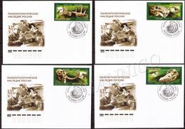 2020-2655-2658 FDC Canc Saratov Russia  Paleontological Heritage Of Russia. Prehistoric Fauna. Dinosaurs. Mammoths - FDC