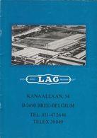 Brochure-leaflet: Pvba LAG-voertuigen Belgium Sprl Bree (B) - Camions