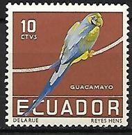 Ecuador - Mint Hinged 1958 :  Blue-and-yellow Macaw  -  Ara Ararauna - Pappagalli & Tropicali