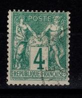 YV 63 Signé CALVES - Cote 100 Euros - 1876-1878 Sage (Type I)
