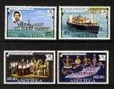 ANGUILLA - 1977 QE2 SILVER JUBILEE ROYAL VISIT SET (4V) FINE MNH ** SG 298-301 - Anguilla (1968-...)