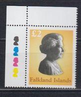 Falkland Islands 2003 Definitive / Queen Elizabeth II 1v (corner) ** Mnh (48508B) - Falkland Islands
