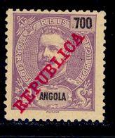 ! ! Angola - 1911 King Carlos 700 R - Af. 102 - MH - Angola